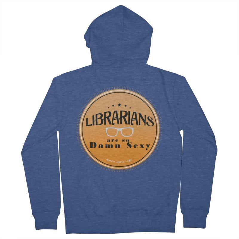Librarians are... Men's Zip-Up Hoody by AntonAbela-Art's Artist Shop