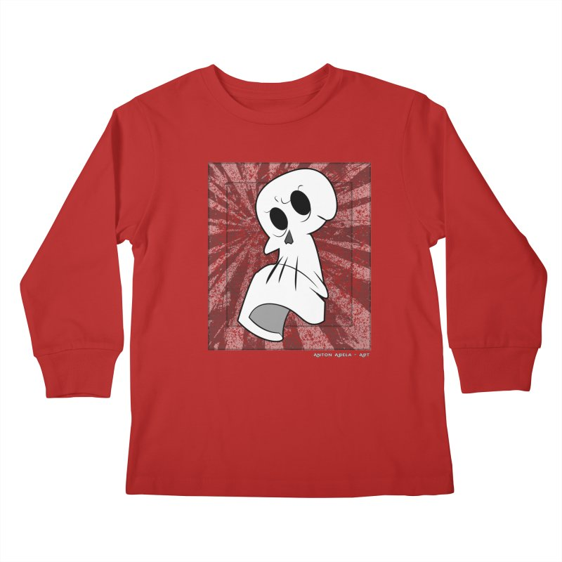 Uncle Grim Kids Longsleeve T-Shirt by AntonAbela-Art's Artist Shop