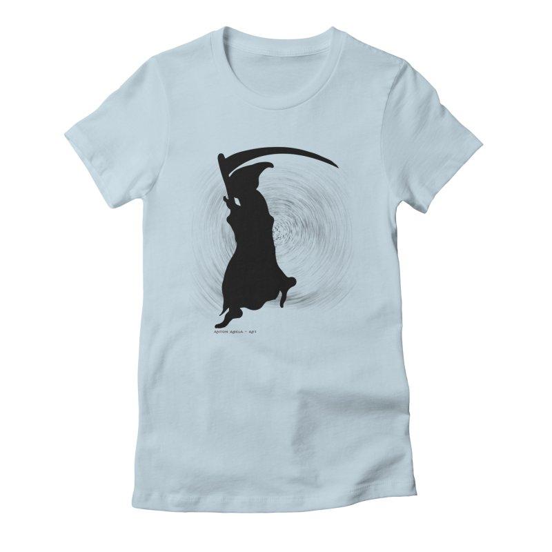 The Reaper Women's Fitted T-Shirt by AntonAbela-Art's Artist Shop