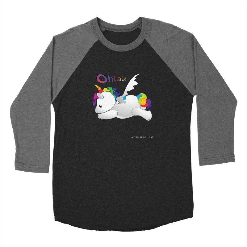 Wee'lil Unicorn Women's Baseball Triblend Longsleeve T-Shirt by AntonAbela-Art's Artist Shop