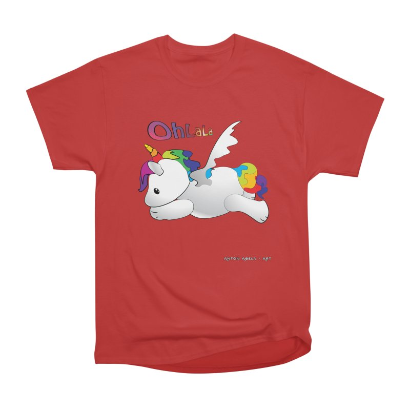 Wee'lil Unicorn Men's Heavyweight T-Shirt by AntonAbela-Art's Artist Shop