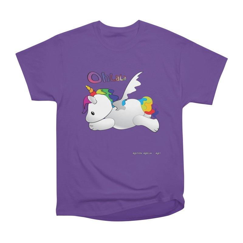 Wee'lil Unicorn Men's Heavyweight T-Shirt by AntonAbela-Art's Artist Shop
