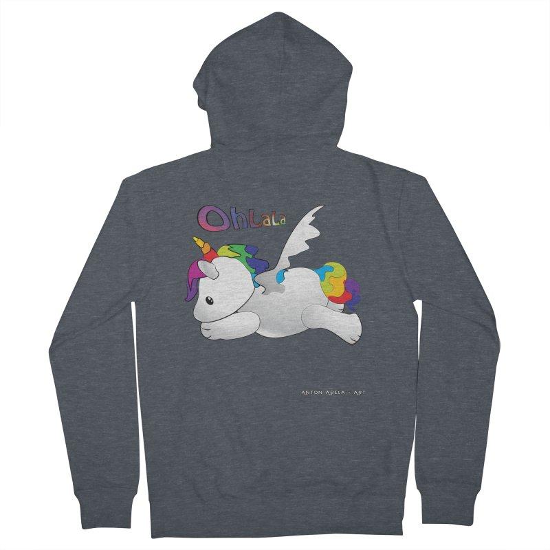 Wee'lil Unicorn Men's Zip-Up Hoody by AntonAbela-Art's Artist Shop