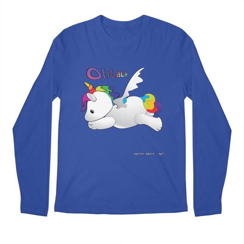 Wee'lil Unicorn Men's Regular Longsleeve T-Shirt by AntonAbela-Art's Artist Shop