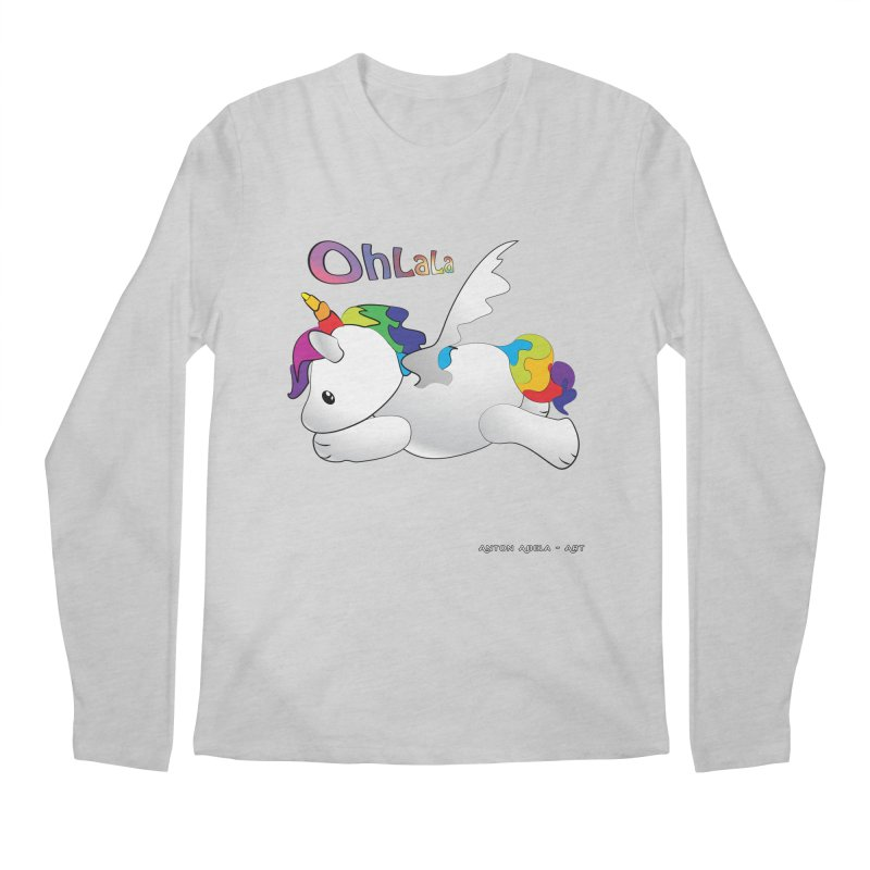 Wee'lil Unicorn Men's Regular Longsleeve T-Shirt by AntonAbela-Art's Artist Shop