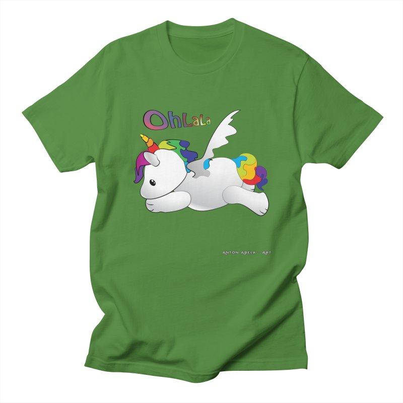 Wee'lil Unicorn Women's Regular Unisex T-Shirt by AntonAbela-Art's Artist Shop