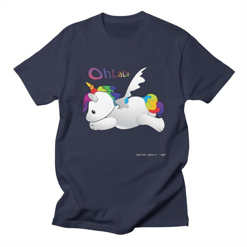 Wee'lil Unicorn Women's Unisex T-Shirt by AntonAbela-Art's Artist Shop