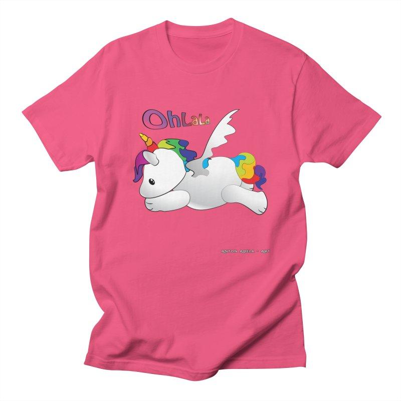 Wee'lil Unicorn Men's Regular T-Shirt by AntonAbela-Art's Artist Shop