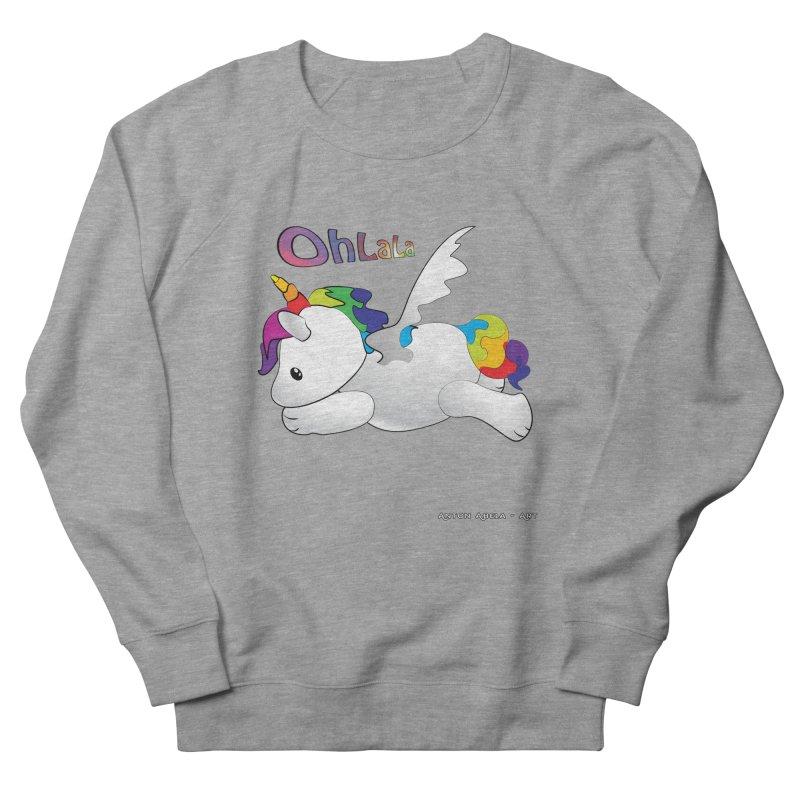Wee'lil Unicorn Women's French Terry Sweatshirt by AntonAbela-Art's Artist Shop