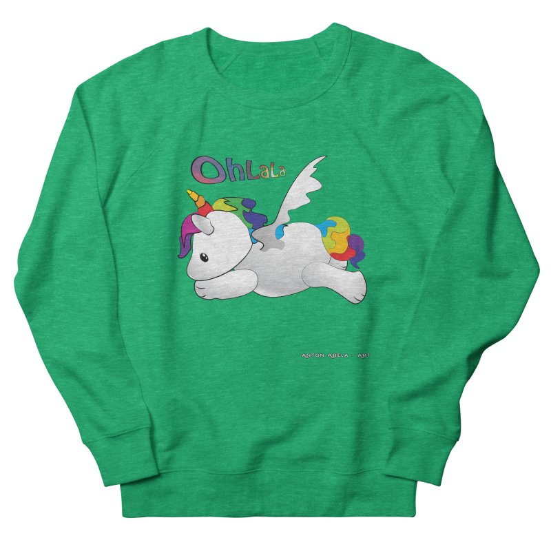 Wee'lil Unicorn Men's French Terry Sweatshirt by AntonAbela-Art's Artist Shop