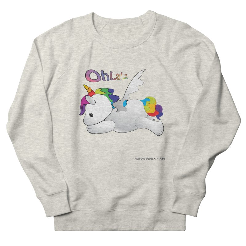 Wee'lil Unicorn Men's French Terry Sweatshirt by AntonAbela-Art's Artist Shop