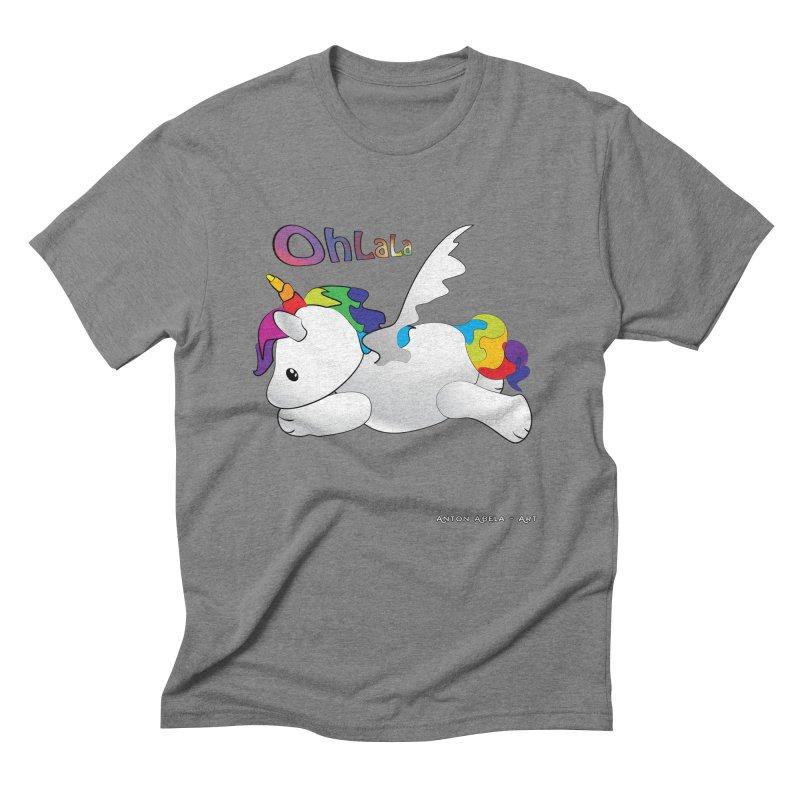 Wee'lil Unicorn Men's Triblend T-Shirt by AntonAbela-Art's Artist Shop