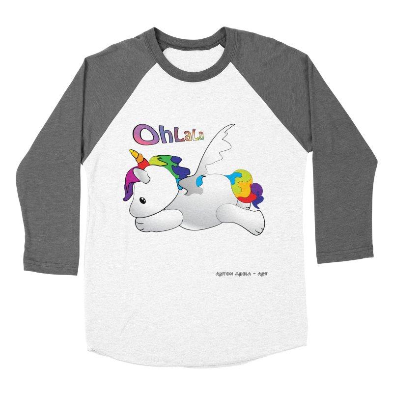 Wee'lil Unicorn Men's Baseball Triblend T-Shirt by AntonAbela-Art's Artist Shop