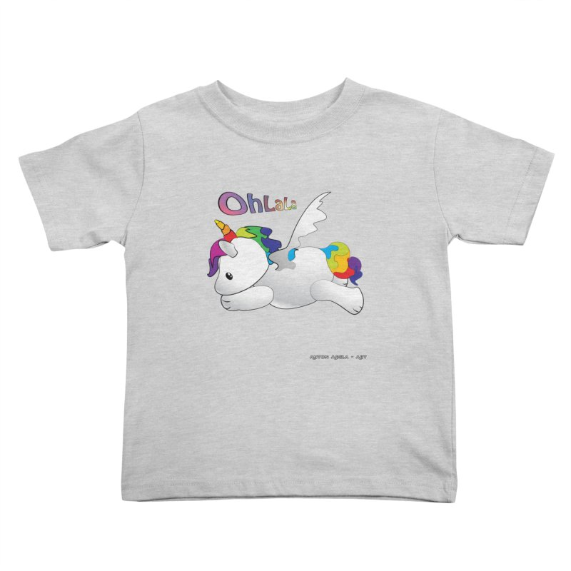 Wee'lil Unicorn Kids Toddler T-Shirt by AntonAbela-Art's Artist Shop
