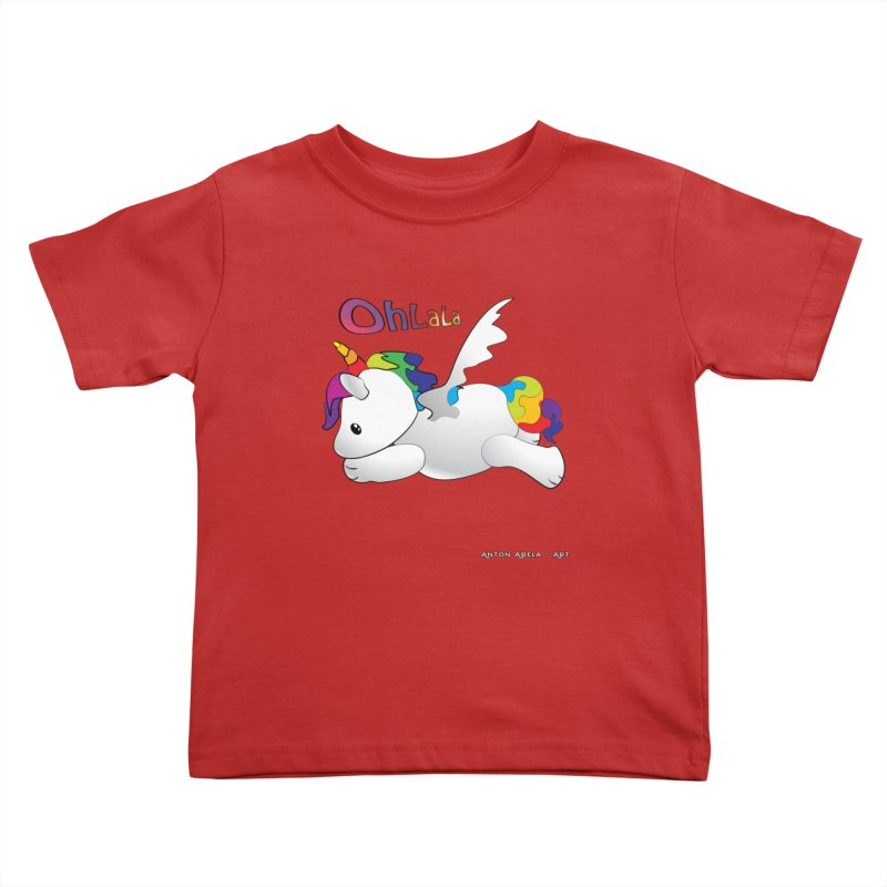 Wee'lil Unicorn Kids Toddler T-Shirt by AntonAbela-Art's Artist Shop