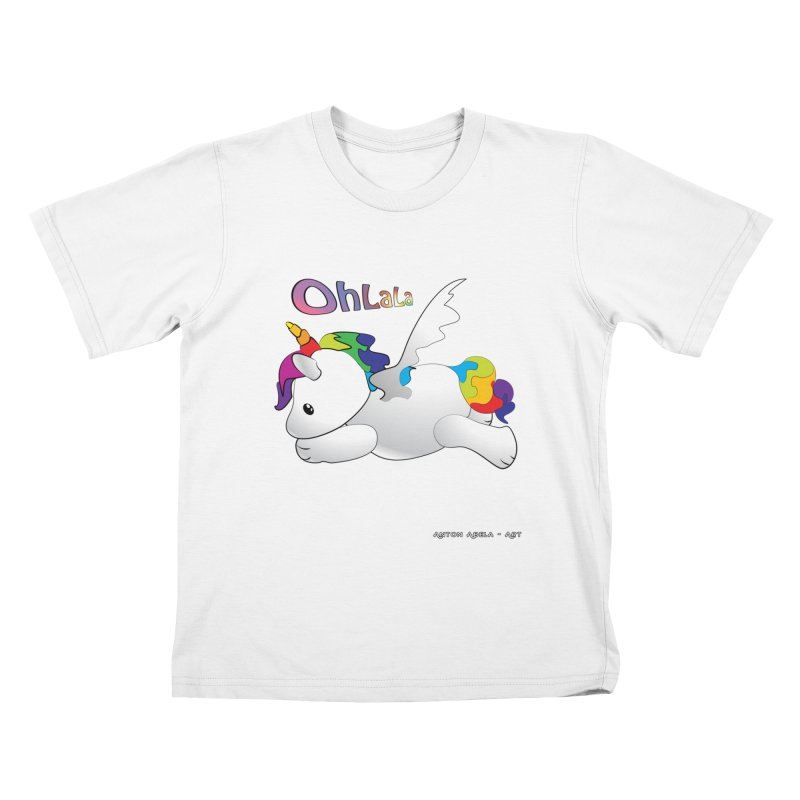 Wee'lil Unicorn Kids T-Shirt by AntonAbela-Art's Artist Shop