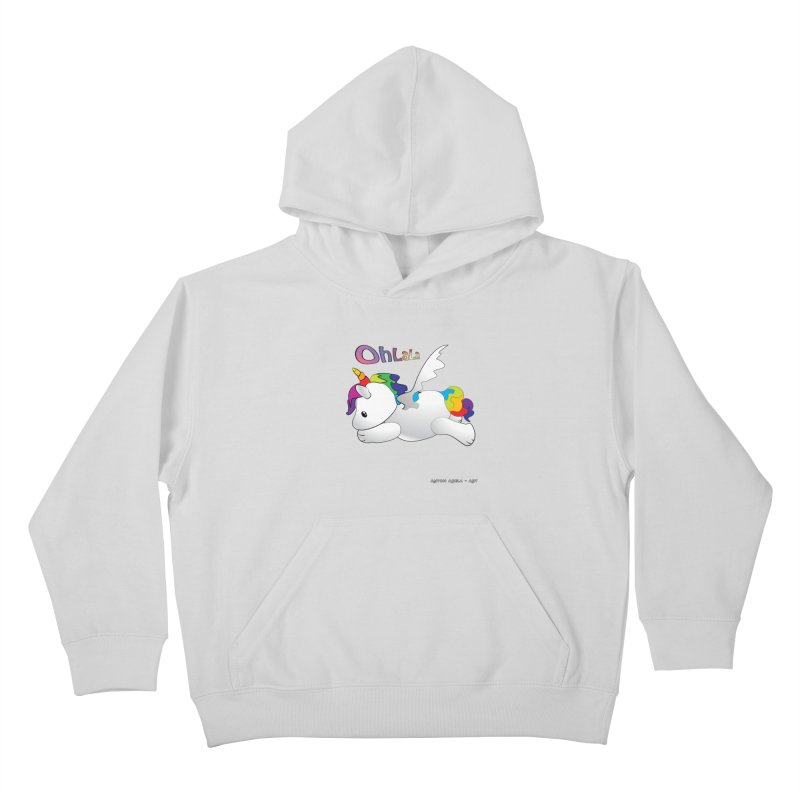 Wee'lil Unicorn Kids Pullover Hoody by AntonAbela-Art's Artist Shop