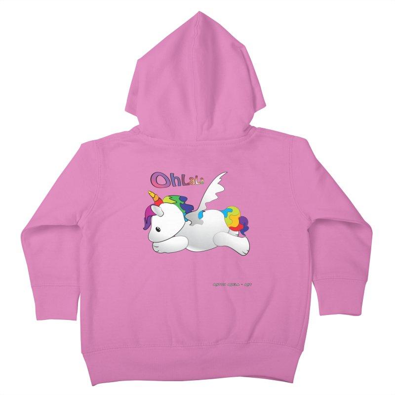 Wee'lil Unicorn Kids Toddler Zip-Up Hoody by AntonAbela-Art's Artist Shop