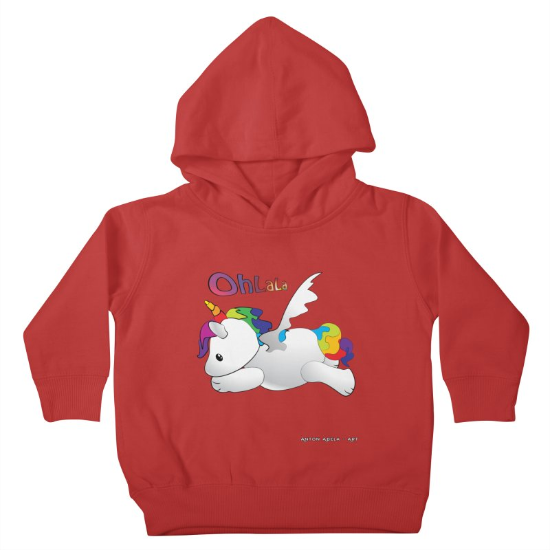 Wee'lil Unicorn Kids Toddler Pullover Hoody by AntonAbela-Art's Artist Shop