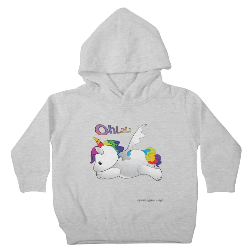 Wee'lil Unicorn Kids Toddler Pullover Hoody by AntonAbela-Art's Artist Shop