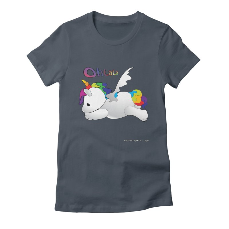 Wee'lil Unicorn Women's T-Shirt by AntonAbela-Art's Artist Shop