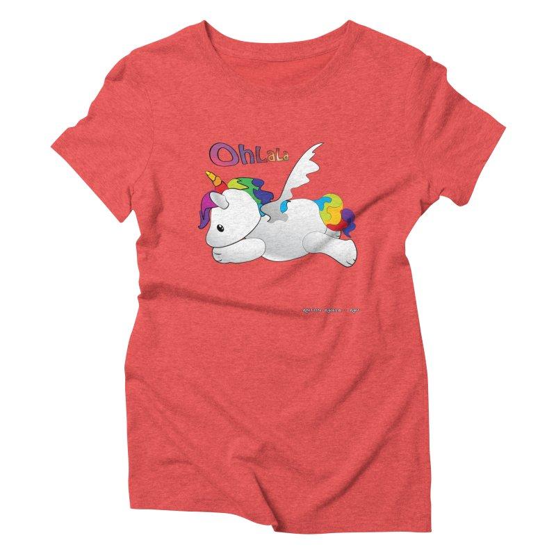 Wee'lil Unicorn Women's Triblend T-Shirt by AntonAbela-Art's Artist Shop