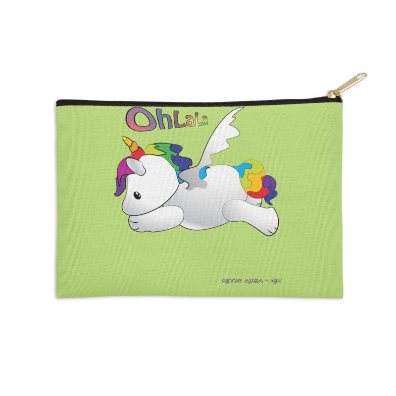 Wee'lil Unicorn Accessories Zip Pouch by AntonAbela-Art's Artist Shop