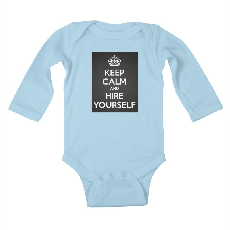 New Hire Kids Baby Longsleeve Bodysuit by Antonio's Artist Shop