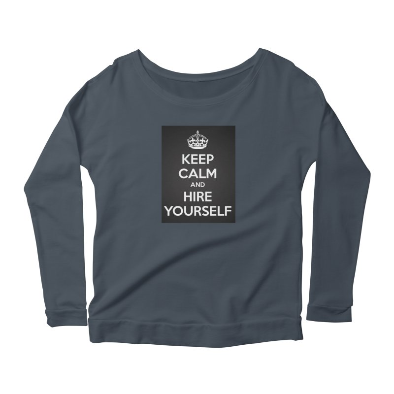 New Hire Women's Scoop Neck Longsleeve T-Shirt by Antonio's Artist Shop