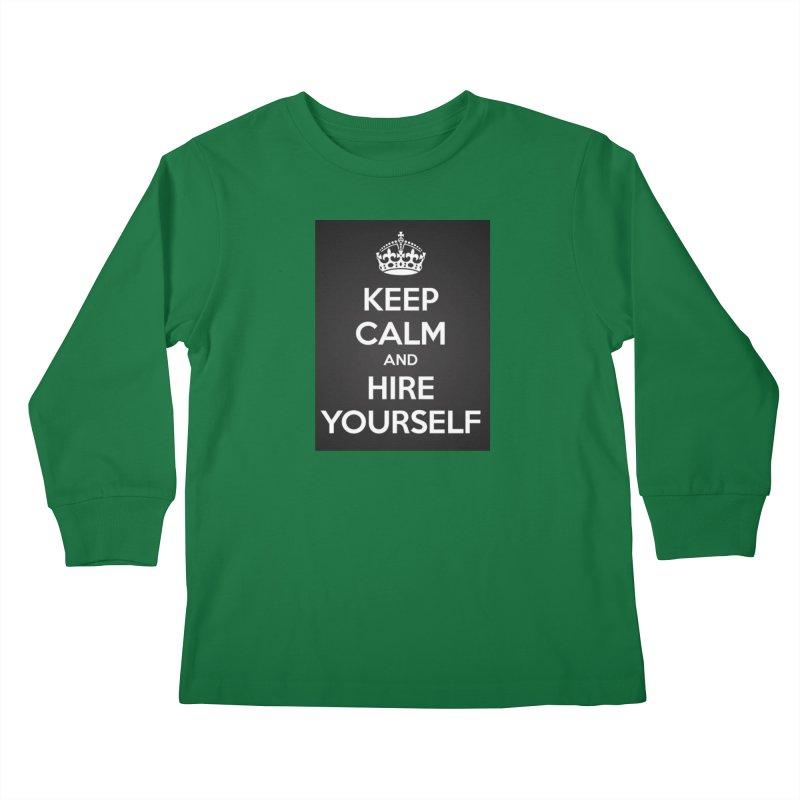 New Hire Kids Longsleeve T-Shirt by Antonio's Artist Shop
