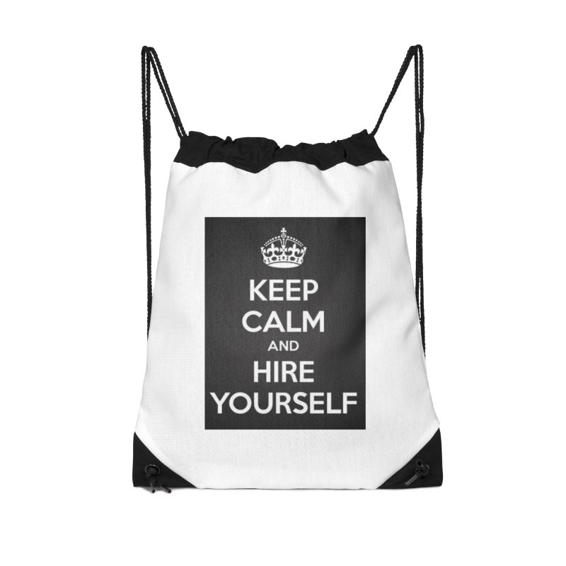 New Hire Accessories Drawstring Bag Bag by Antonio's Artist Shop