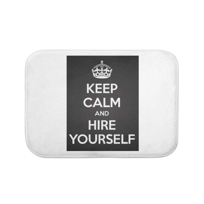 New Hire Home Bath Mat by Antonio's Artist Shop