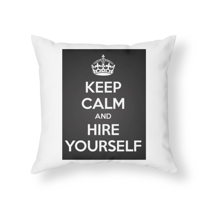 New Hire Home Throw Pillow by Antonio's Artist Shop
