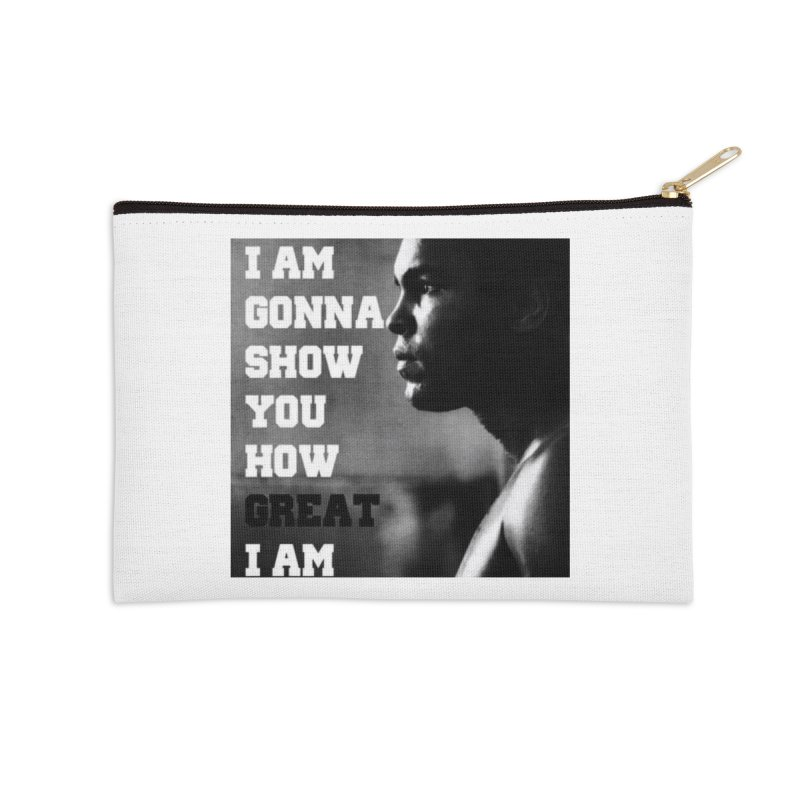 Greatness Accessories Zip Pouch by Antonio's Artist Shop
