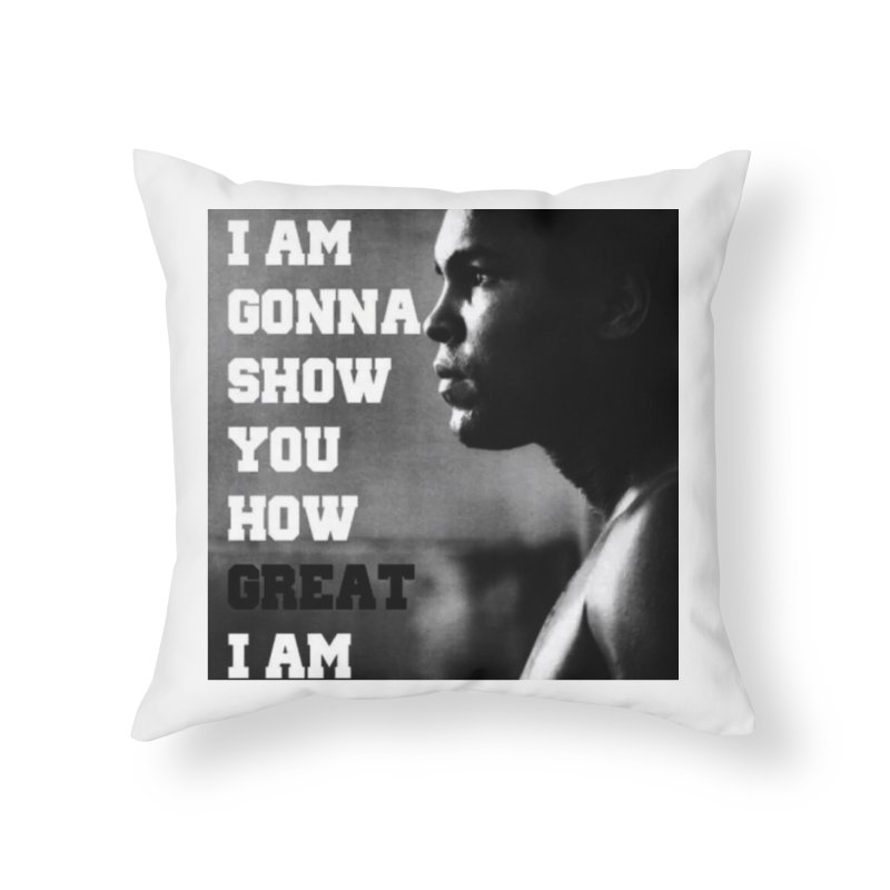 Greatness Home Throw Pillow by Antonio's Artist Shop