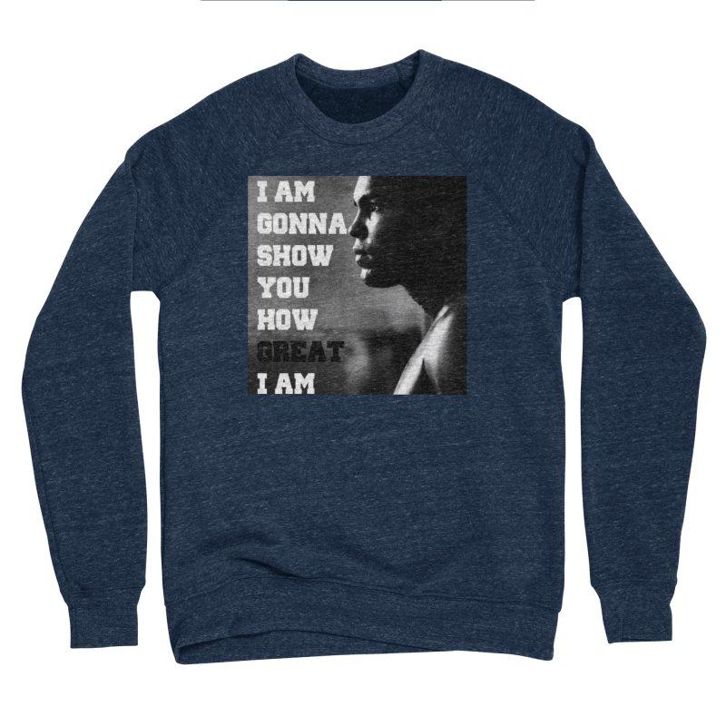 Greatness Men's Sponge Fleece Sweatshirt by Antonio's Artist Shop