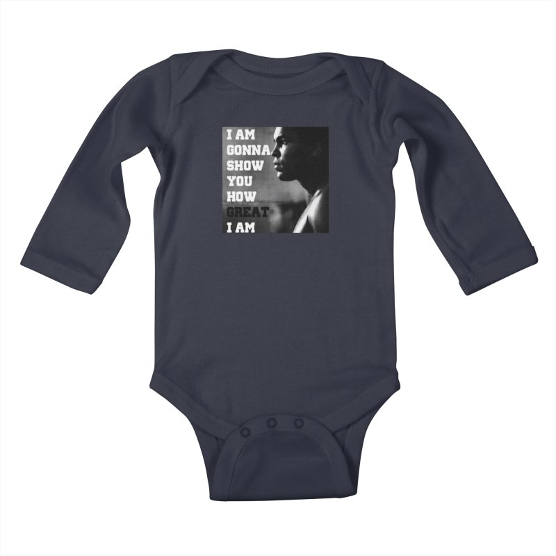 Greatness Kids Baby Longsleeve Bodysuit by Antonio's Artist Shop