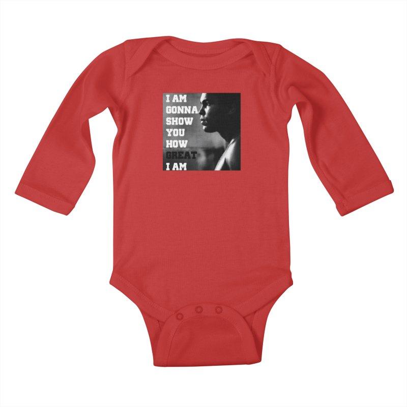 Greatness Kids Baby Longsleeve Bodysuit by Antonio's Artist Shop