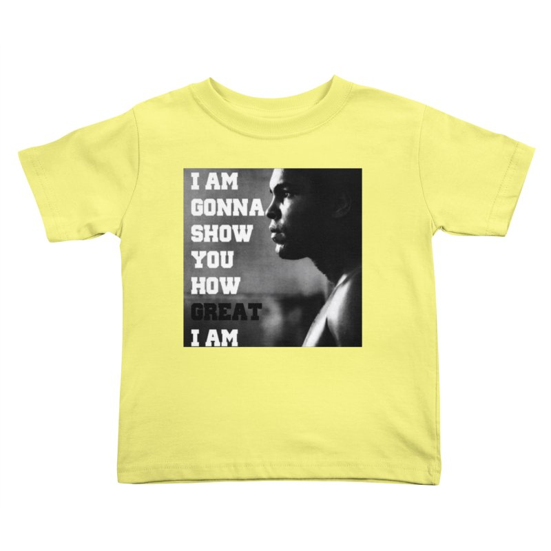 Greatness Kids Toddler T-Shirt by Antonio's Artist Shop