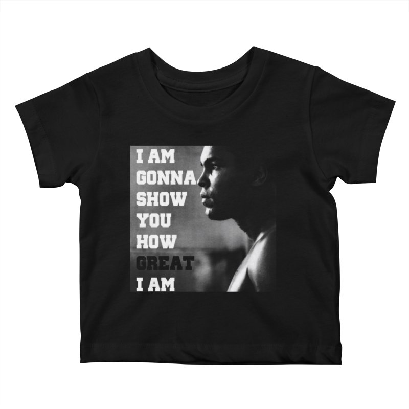 Greatness Kids Baby T-Shirt by Antonio's Artist Shop