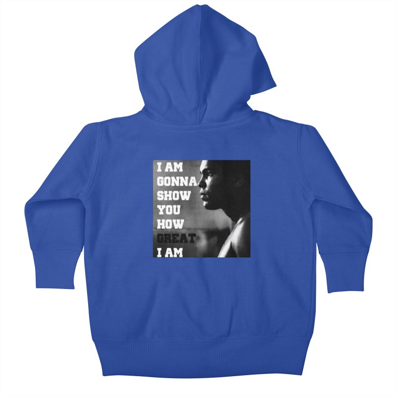 Greatness Kids Baby Zip-Up Hoody by Antonio's Artist Shop