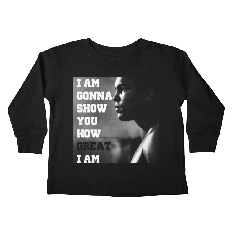 Greatness Kids Toddler Longsleeve T-Shirt by Antonio's Artist Shop