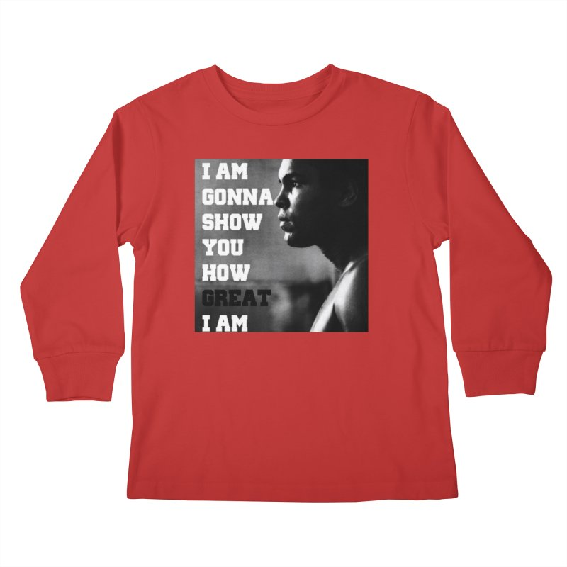 Greatness Kids Longsleeve T-Shirt by Antonio's Artist Shop