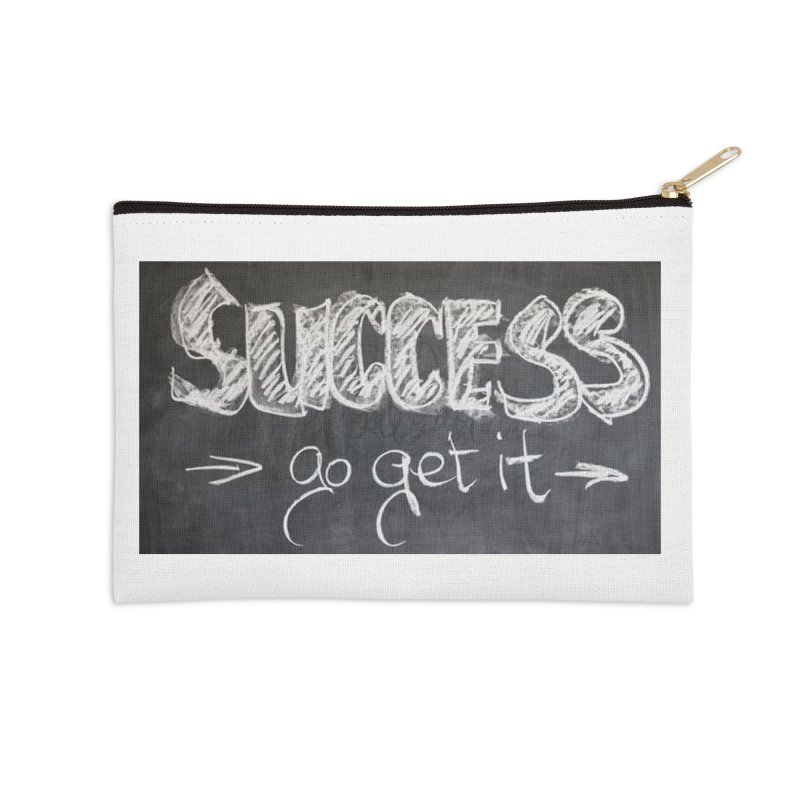 Success Accessories Zip Pouch by Antonio's Artist Shop