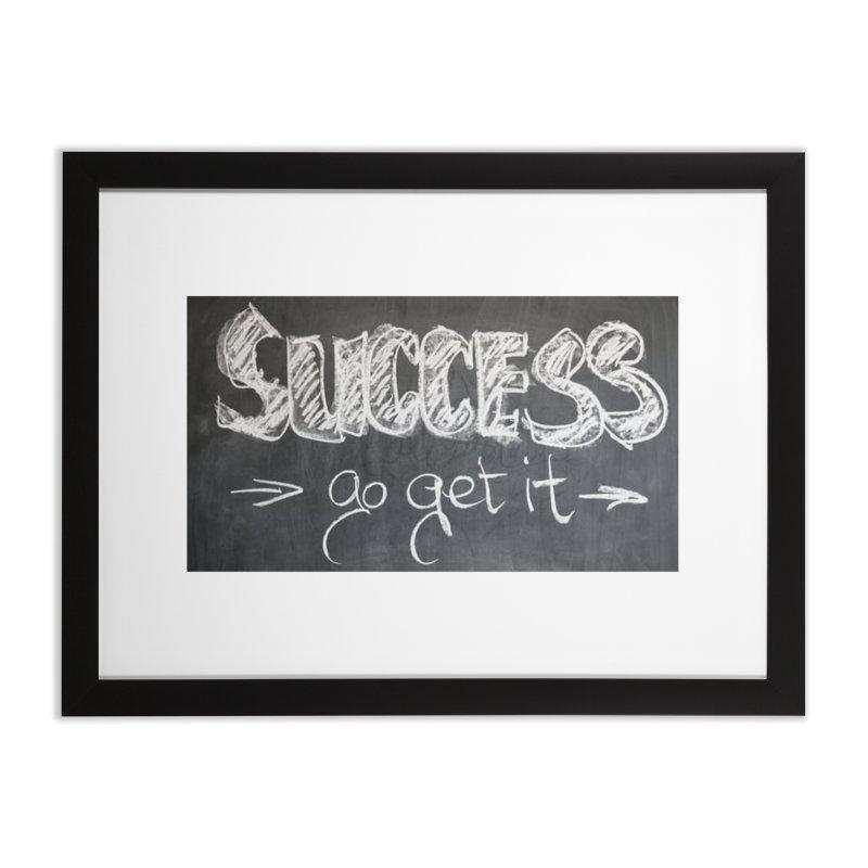 Success Home Framed Fine Art Print by Antonio's Artist Shop