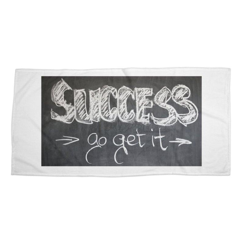 Success Accessories Beach Towel by Antonio's Artist Shop