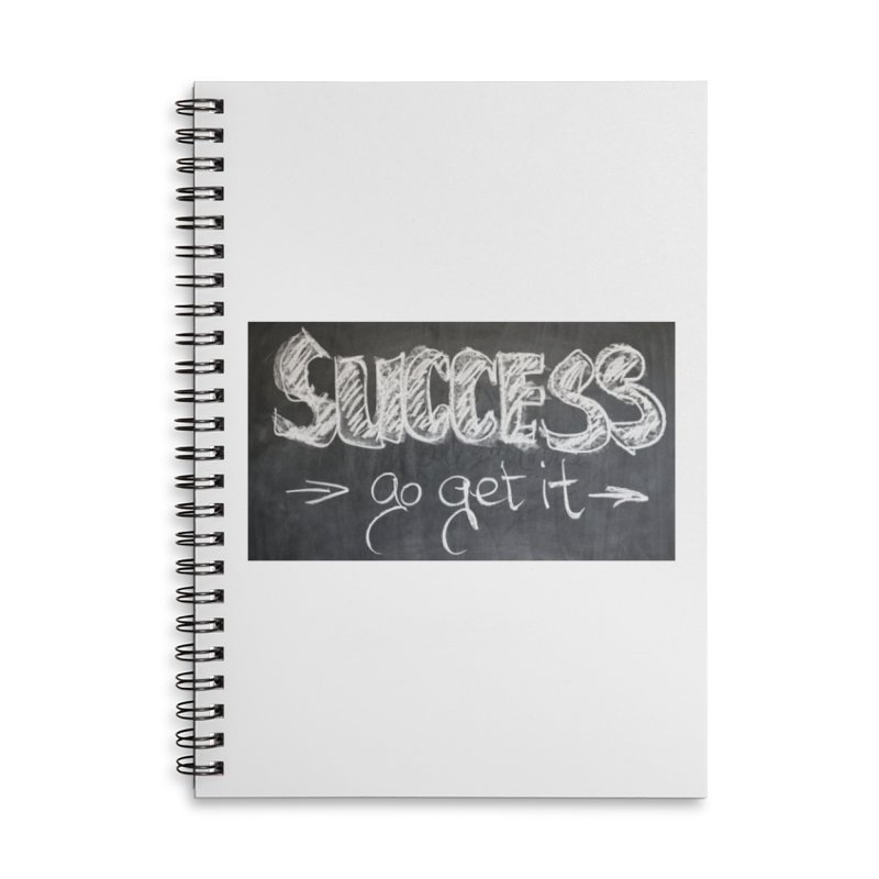 Success Accessories Lined Spiral Notebook by Antonio's Artist Shop