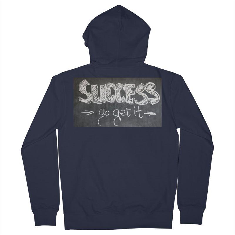 Success Men's Zip-Up Hoody by Antonio's Artist Shop