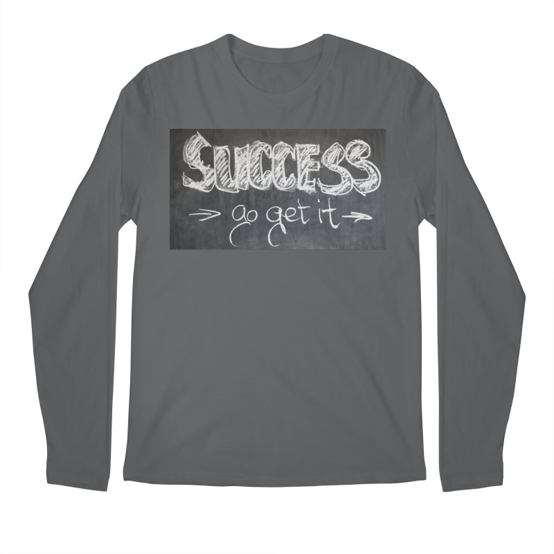 Success Men's Regular Longsleeve T-Shirt by Antonio's Artist Shop