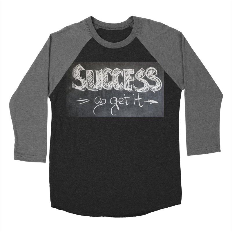 Success Women's Baseball Triblend Longsleeve T-Shirt by Antonio's Artist Shop